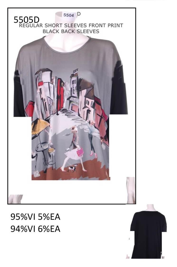 Woman T Shirt Code 5505d Private Label Size S M L Xl