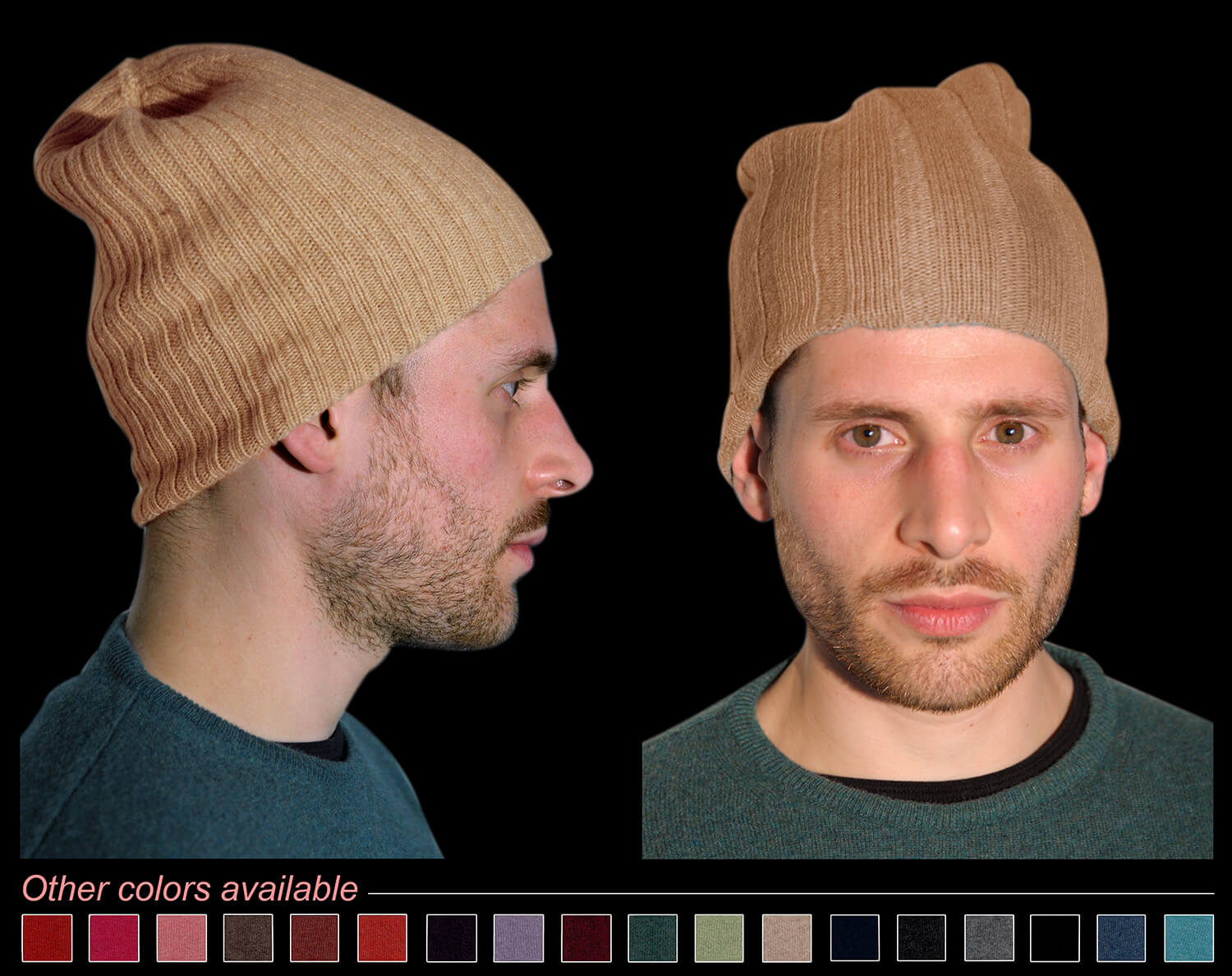 Man hat color beige code 119 and 298