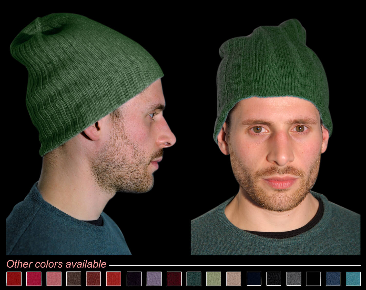 Man hat color green code 119 and 298