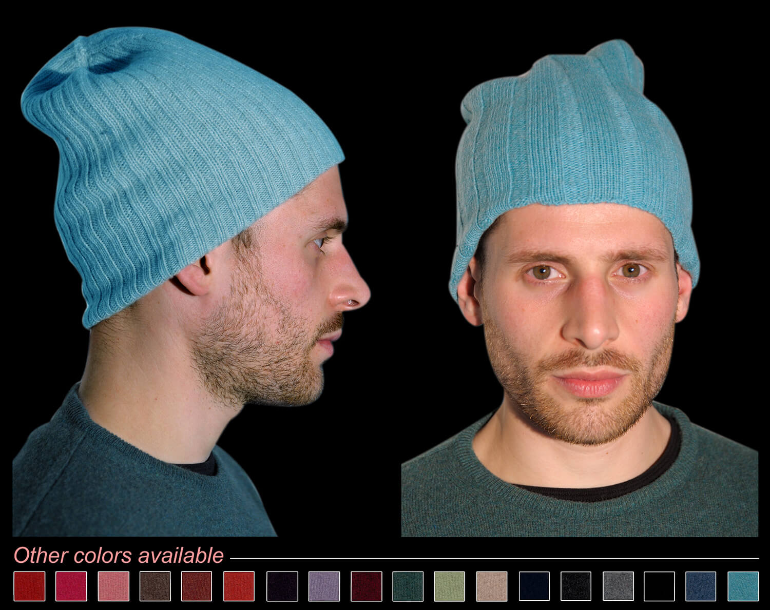 Man hat color turquoise code 119 and 298