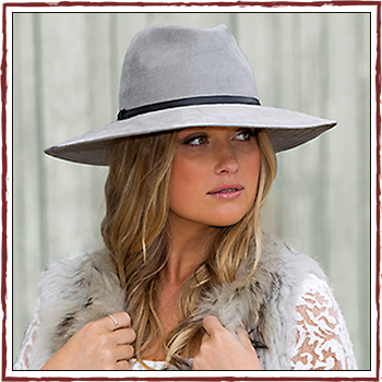 Woman hat - Color grey - Fibers: 100% polyester (PL)