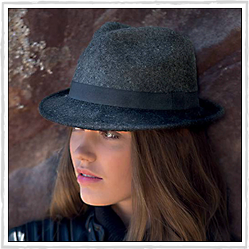 RL328 vespa lambswool trilby. Material: 100% lambswool.