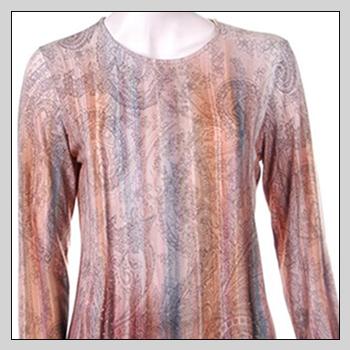 5506 woman sweater. Composition: 94% viscose (VI) and 6% elastam (EA).