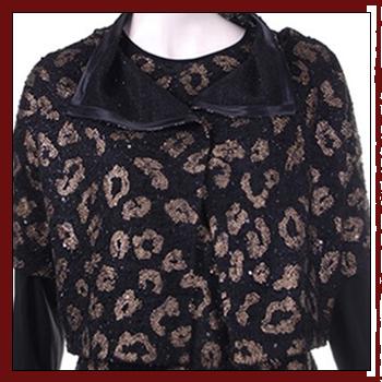 Woman knitwear - Fibers: 98% polyester (PL) and 2% elastam (EA)