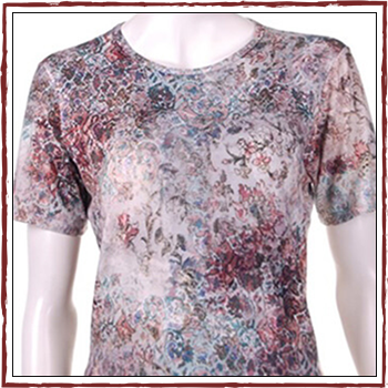 Woman T-shirts. Fibers: 94% viscose (VI) and 6% elastam (EA). Size: S, M, L, XL and XXL.