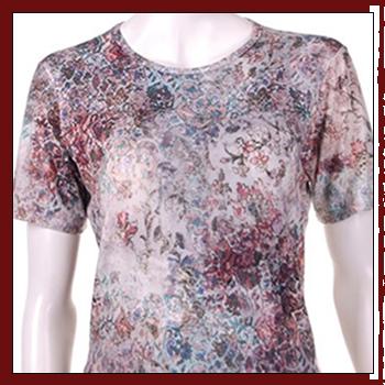 Woman T-shirts. Fibers: 94% viscose (VI) and 6% elastam (EA). Size: S, M, L, XL and XXL.