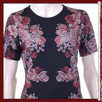 Woman T-shirts. Fibers: 94% viscose (VI) and 6% elastam (EA).