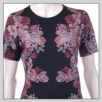 5513 woman t-shirt. Composition: 94% viscose (VI) and 6% elastam (EA).