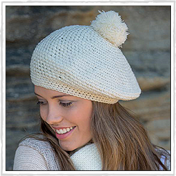 RL292 parisian crocheted beret. Material: 100% acrylic.