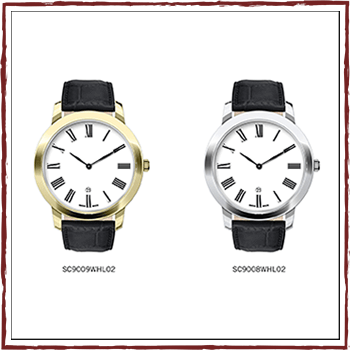 Como - Swiss watchs - Gent quartz. Case: stainless steel. Water resistant: 54TM and strap: leather.