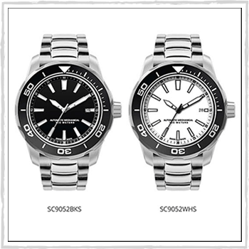 SC9052WHS and SC9052BKS watch Ginevra. Material: stainless steel.