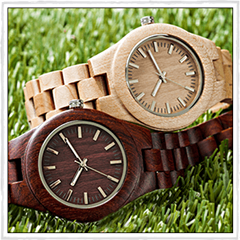 9801WE3WDBSL and 9801WE3WIVSL watch Greenwood. Material: natural wood.