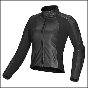 Woman leather clothing