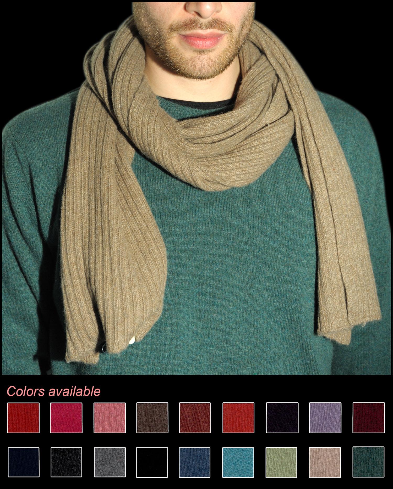 Man scarve color beige code 120