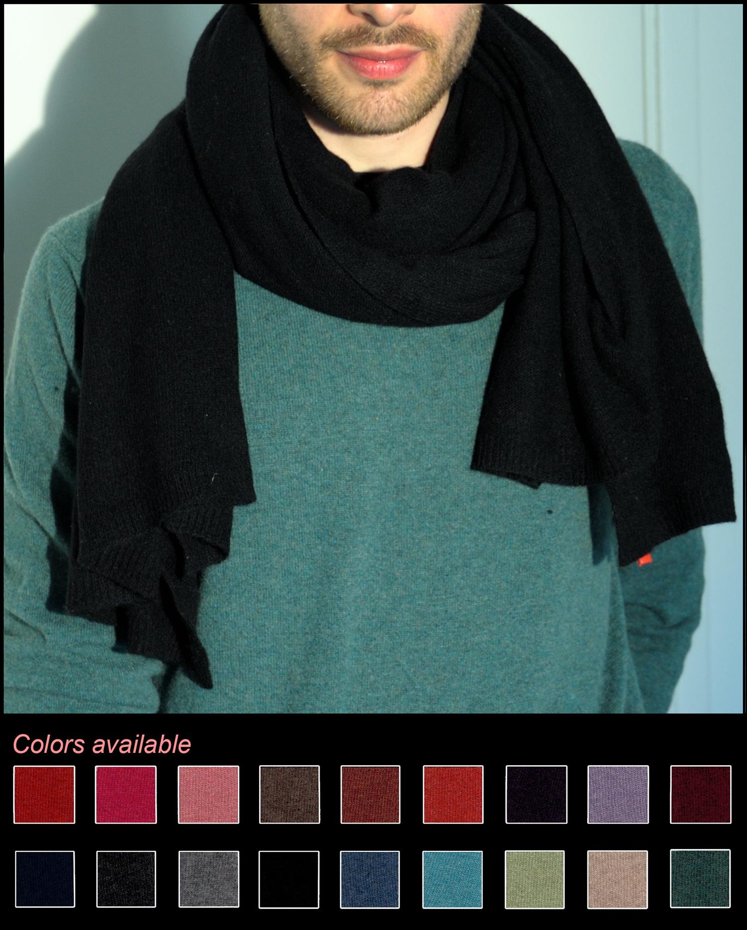 Man scarve color black code 245