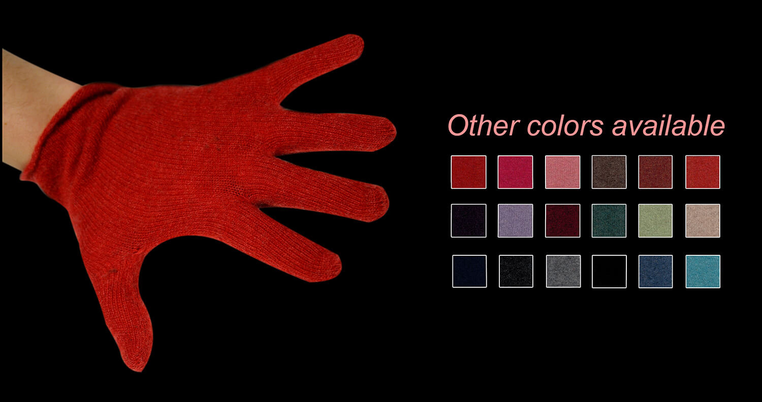 Woman glove color red code 261