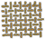 Textile samples - Gold color