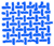Textile samples - Light blue color