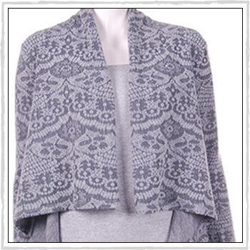 5531 woman cardigan. Fibers: 80% acrylic (PC) and 20% polyester (PL).