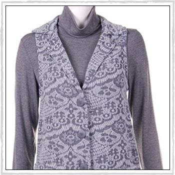 5532 woman waistcoat. Fibers: 80% acrylic (PC) and 20% polyester (PL).