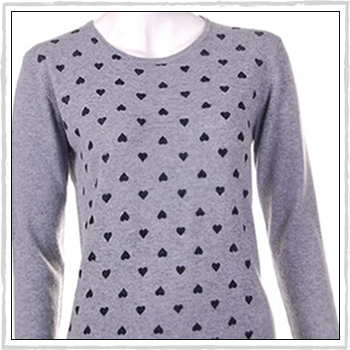 5549b woman sweater. 90% cotton (CO) and 10% cashmere (WS).