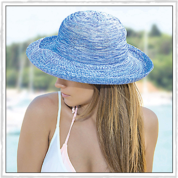 Sydney woman hat. Material: 100% acrylic braid.