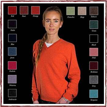 Woman knitwear - Fibers: 95% cashmere (WS) and 5% other fibers (AF)