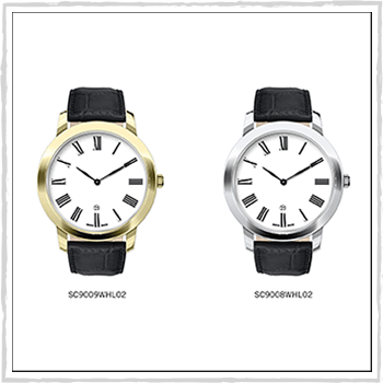 SC9009WHL02 watch Como. Gent quartz. Material: stainless steel and leather.