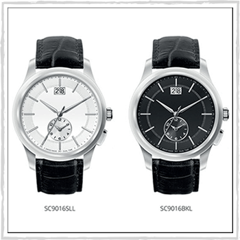 SC9016BKL and SC9016SLL watch Enea. Material: stainless steel and leather.