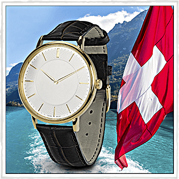 Watch Livigno. Water resistant. Material: stainless steel and leather.